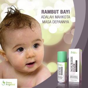 Minyak Kemiri Pelebat Rambut Green Angelica, Penumbuh Rambut Bayi